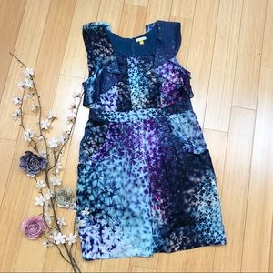 LEIFSDOTTIR silk starry blue Supernova dress, 10.